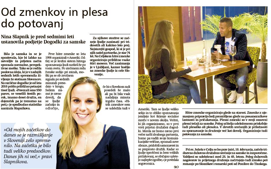 PDF Članek Od zmenkov in plesa do potovanj